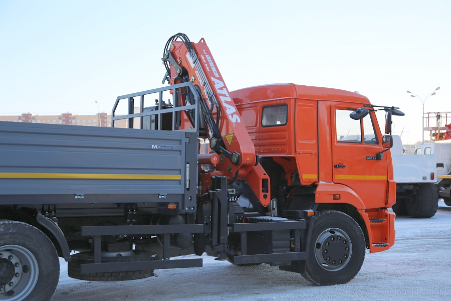 КАМАЗ 65115 с КМУ ATLAS 145 CS A2