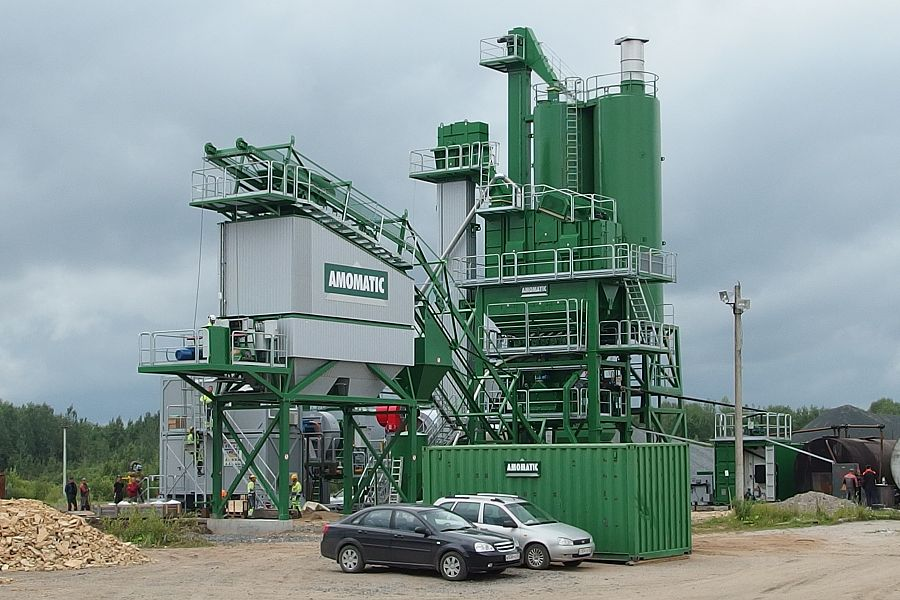 Запуск завода по производству асфальто-бетонных смесей